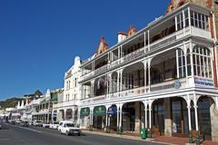 Hotel in a franco colonial style falsebay, province somerset west, south afri Stock Photos