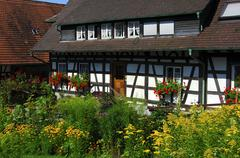 Traditional timber framed building, sasbachwalden, black forest, germany Stock Photos