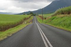 Road to the rain forest tableland queensland australia Stock Photos