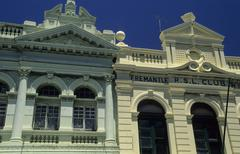 Historic houses in the center of fremantle Stock Photos