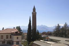 Stock Photo of antalya at the south coast turkey yivil minare of the alaeddin mosque