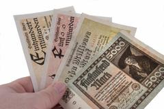 Stock Photo of german inflation currencies 1922-23.