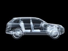 X-ray photography of the car Stock Illustration