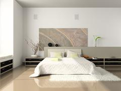 Interior of the  comfortable bedroom Stock Illustration