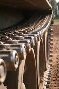 Chain of a russian tank t55 Stock Photos