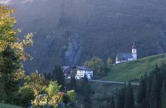 Damuels bregenzer wald vorarlberg austria Stock Photos