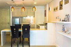 luxury kitchen. - stock photo