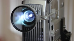Film Projector and cinema light movie Stock Footage