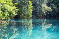 Stock Photo of Blue river in Vanuatu