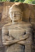 gal vihara,standing buddha statue - stock photo