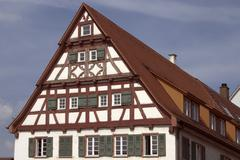 Half  timbered house Ehningen Baden Wurtemberg Germany - stock photo