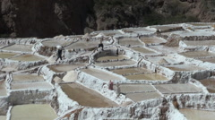 Peru, salt pans carrying Stock Footage