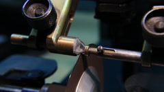 Production and manufacturing the DIAMOND and mastered brilliants. Stock Footage