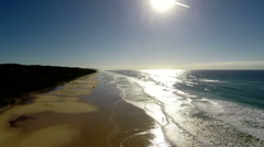 Australia: Fraser Island Aerial view Stock Footage
