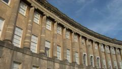Bath. The Royal Crescent Stock Footage