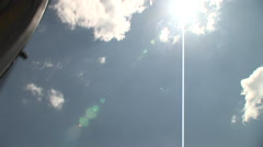 Stock Video Footage of Helicopter rotors spins in the sun