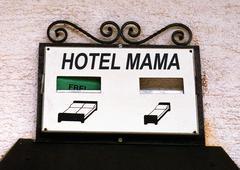Symbolic hotel mother Stock Photos