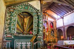 santa ana church altar - stock photo