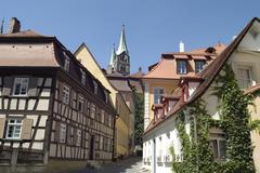 Old town with the tower of the emperors dome bamberg bavaria germany Stock Photos