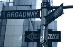Broadway, street signs in new york, usa Kuvituskuvat
