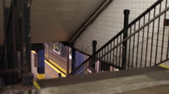 Stairs in MTA Subway Station New York City NYC 4K Stock Footage