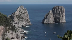 View from the island of Capri Stock Footage