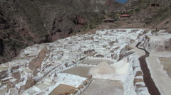 Peru salt pans view Stock Footage