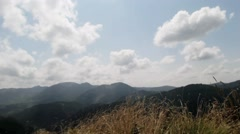 montagne sky view+clouds -time lapsed - stock footage