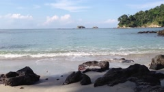 Stock Video Footage of Beach at Manuel Antonio National Park, Costa Rica