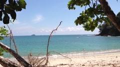 Beach at Manuel Antonio National Park, Costa Rica Stock Footage
