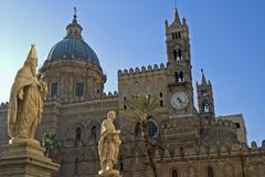 Cathedral santa maria assunta of palermo italy Stock Photos