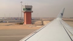 Egypt Air Airplane taxiing at Cairo airport Stock Footage