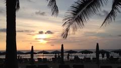 Sunset at Phuket beach, Thailand - stock footage