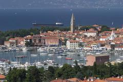 izola at the adriatic coast - slovenia - stock photo