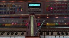 Metronome on key board of electronic organ HD 168 Stock Footage