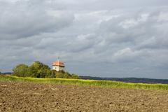 Schillingfurst Schillingfuerst north of Feuchtwangen Brunnenhaus Naturepark - stock photo