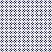 Navy blue and white small polka dots pattern repeat background Stock Illustration