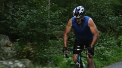 Bicycling, Cyclists Riding Together on Back Roads - stock footage