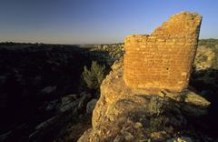 Stock Photo of indian cliff dwelling, ruin, at hovenweep national monument, colorado, usa