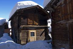 Stock Photo of traditional storehouse blatten loetschental valais switzerland