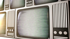 retro television equipment noise display screen - stock footage