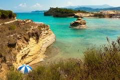 Stock Photo of view of the bay of sidari on corfu. canal d'amour