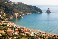 Agios gordios exotic beach in corfu island,greece Stock Photos