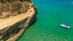 Stock Photo of canal d'amour beach,corfu island, greece