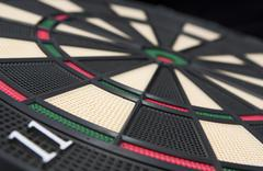 Darts board, close up Stock Photos