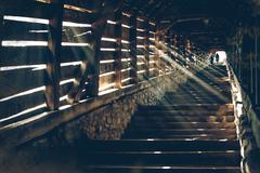 vintage stair - stock photo