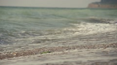 Sea waves crashes on the beache  in slow motion Stock Footage