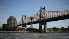 Queensboro  / 59th st Bridge, New York City Stock Footage