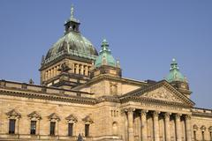 supreme administrative court of germany in leipzig germany - stock photo