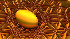 abstract golden surreal egg - stock illustration